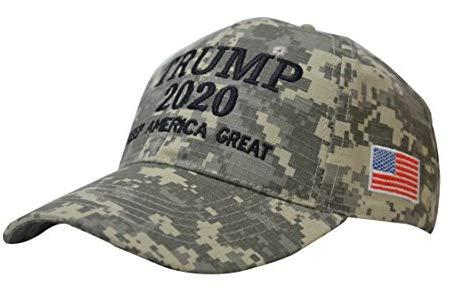 Trump 2020 USA Cap Adjustable Baseball Hat for Men, Women, Boys & Girls, Breathable Eyelets (Camo)