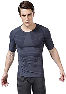BEESCLOVER MA06 Men Sports Fitness Gym Short Sleeve T Shirts Fast Drying Base Layer Tops M-XL