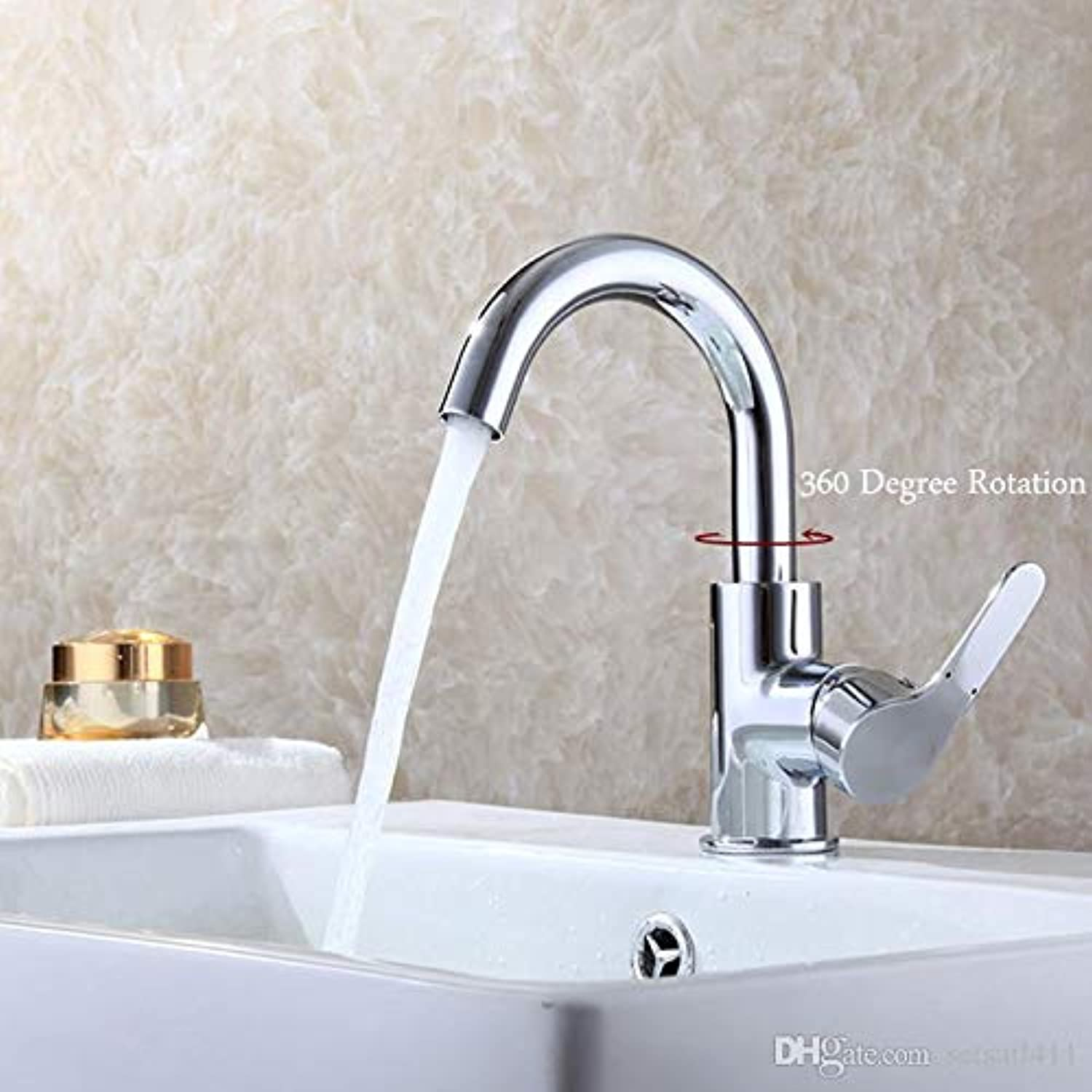 Decorry Faucets Mixer 360 Degree redation Easy Wash for Basin Faucet Kitchen Brass Chrome Faucet Hot Cold Spool