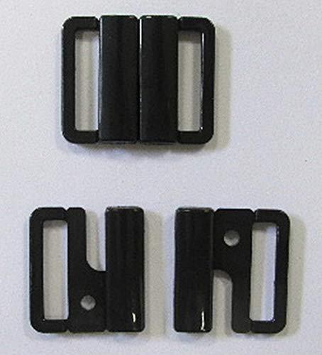 Großhandel für Schneiderbedarf Bikiniverschluss schwarz 25 mm Stegbreite