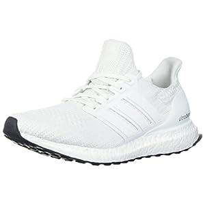 adidas Men's Ultraboost Road Running Shoe, White/White/White, 9 M US