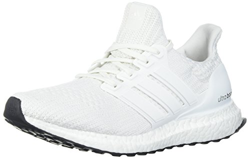 adidas Men's Ultraboost Road Running Shoe, White/White/White, 9 M US