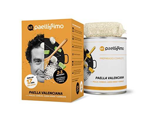 Paellissimo Kit Para Arroz Negro, A Banda, con Verduras o Paella Valenciana, Creación Propia de Comida Preparada por Chef de Estrella Michelin (Paella Valenciana)