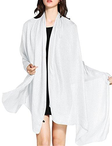 WedTrend Damen Festlich Stola Sommer Schal Sonnenschutz Bolero für Hochzeit Abendkleid Sandstrand Weiß WTC30002 White