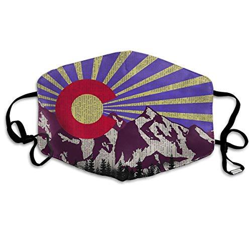 Gezichtsmaskers Oude Colorado Vlag Mond Masker Luchtvervuiling Bescherm Veiligheid Maskers Herbruikbare Muffle Masker Neus Cover