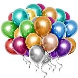 QMEEFB Luftballons Helium Ballons Luftballons Geburtstag Luftballons Hochzeit Hochzeitsballons für Geburtstag Hochzeit Babyparty Valentinstag Silvester Deko 50 Stück