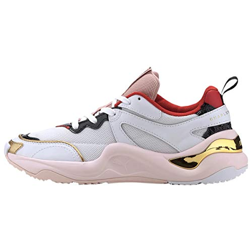 PUMA Womens Rise x Charlotte Olympia Casual Sneakers, White, 10.5