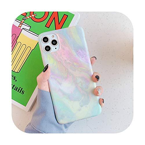 Colorido mármol grieta carcasa de silicona para iPhone 11 Pro XS Max XR X 7 8 Plus Case SE 2020 suave TPU IMD cubierta trasera Dream Crack-para iPhone 11 (6.1)