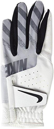 Nike Sport Glove Left hand Fußballhandschuhe für Kinder, mehrfarbig (White / Black / Wolf Grey), S