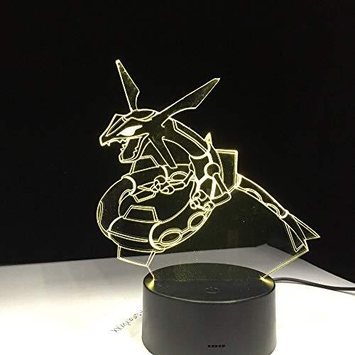Snake Dragon Animal Acryl oder Factory Night Light 3D LED Tischlampe Kinder Geburtstagsgeschenk Nachtzimmer Dekoration