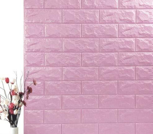 3D Tapete Wandpaneele selbstklebend - Moderne Wandverkleidung in Steinoptik in 5 verschiedenen Farben - schnelle & leichte Montage (10x Stück, Violett)