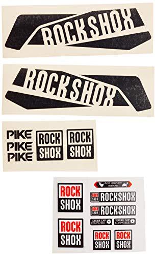 Ecoshirt FW-QD61-42BK Aufkleber Sticker Fork Rock Shox Pike Am46 Aufkleber Decals Autocollants Adesivi Forcela Gabel Fourne, schwarz
