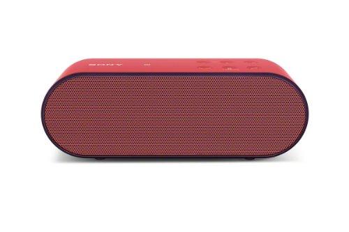 Sony SRSX2 Ultra-Portable NFC Bluetooth Wireless Speaker (Red) with Speakerphone