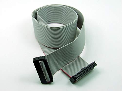 POPESQ® - IDC Kabel/Cable 26 polig (2X 13) cca. 20 cm / 0.2 m lang/Long, Flachbandkabel Ribbon, Raspberry Pi #A1323