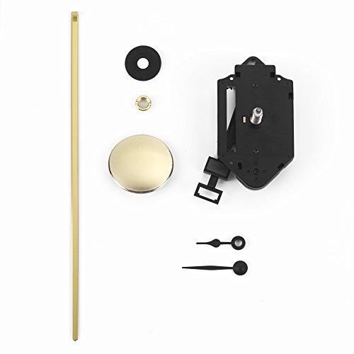 Clock-it Meccanismo Pendolo di qualità Perno Extra Lungo 24mm, Lancette plastica Colore Nero. Azienda Italiana specializzata.