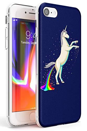 Arco Iris Caca Unicornio Funda de Teléfono de Goma Slim Cover para iPhone 7, para iPhone 8 Mágico Arco Iris 9Gag Encantador Unicornio