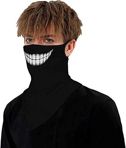 ARKIM Unisexe Bandana Masque Visage Écharpe Visage Rave Balaclava Cou Guêtres Dust Tissu Lavable Vent Moto Masque Femmes Hommes (Damhb-011)