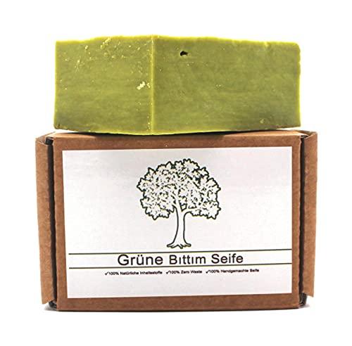 Grüne Bittim Seife, Pflegeseife, Naturseife, Bio, Handgemacht, Naturprodukt ca. 140g, Keine Chemikalien, Traditionell, Bittim Seife empfohlen bei Haarausfall, Naturkosmetik