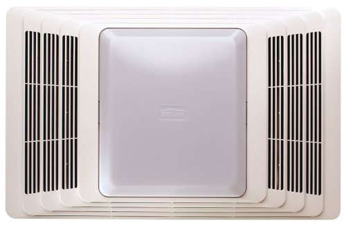 Broan Ceiling Exhaust Fan and Light with Sound-Absorbent Acoustic Insulation for Bathroom and Home, 100-Watts, 4.5 Sones, 100 CFM