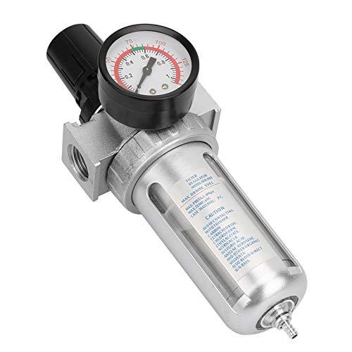 Marvvdy Combo de regulador de filtro de aire comprimido, regulador de filtro de trampa de agua de humedad para compresor de aire BSP de 1/2'con conexión de montaje