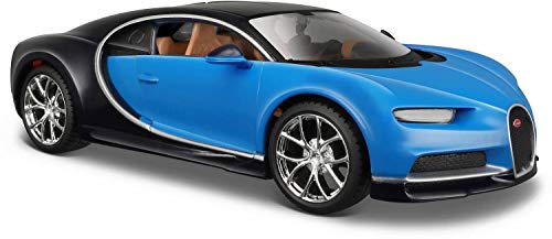 Bavaria Home Style Collection modelauto verzamelaarsauto auto model Bugatti Chiron | schaal 1:24 | kleur blauw of rood vrij te kiezen | sportwagen | cadeau idee verzamelaars liefhebbers blauw