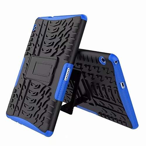 QiuKui Tab Funda para Huawei MediaPad T3, Doble de la protección (TPU + PC) con Cubierta Plegable Pata de Cabra Caja de la Tableta + Film + Pluma para Huawei MediaPad T3 10 AGS-L09 / W09 / L03 9.6'