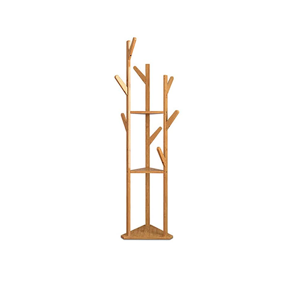 高度スコットランド人パンツYQSJJXB トライアングルハンガーフリースタンディングウッドハンガー(木製カラー)