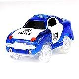 Pistas 1PC juegan Compatible Glow Coche en Racing Oscuro Accesorios Pista eléctrica Que Brilla de Coches de Juguete con la mayoría de Pistas de cumpleaños Regalo para los niños y niñas (Blue Car)