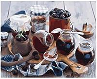 WEIFENGX油絵 数字キットによる絵画 塗り絵 大人 手塗り DIY絵 デジタル油絵 フレームレス 40x50cm - ブルーベリージャム