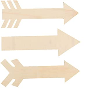 Set of 6 DIY Wood Arrows in 3 Assorted Styles 10