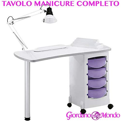 Mesa de manicura Profesional Completo de accesorios: lámpara de mesa + cojín reposamanos +...