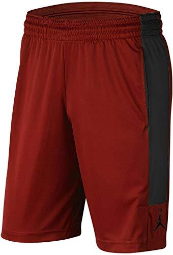NIKE M J Air Dry Knit Short Sport Shorts, Hombre, Gym Red/Black/Black, L
