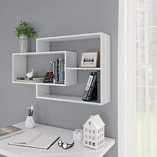 Estantería de Pared Flotante Librería Estantes Moderno para Libros CDs Baldas Flotantes Decoración de Pared para Habitación/Sala de Estar/Oficina, 104 x 24 x 60 cm [EU Stock]