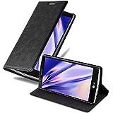 Cadorabo Hülle für LG G4 / G4 Plus in Nacht SCHWARZ - Handyhülle mit Magnetverschluss, Standfunktion & Kartenfach - Hülle Cover Schutzhülle Etui Tasche Book Klapp Style