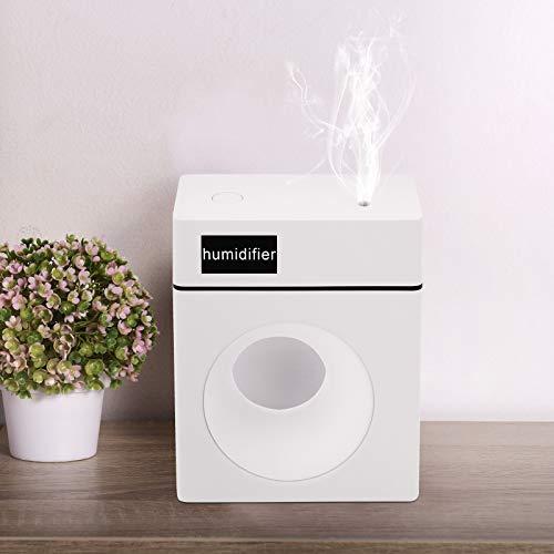 MoYouno Umidificatore silenzioso da scrivania con luce notturna e diffusore di aromi, umidificatore USB Air Cool Mist per casa, camera da letto, ufficio, auto, 10 ore di lavoro (bianca)