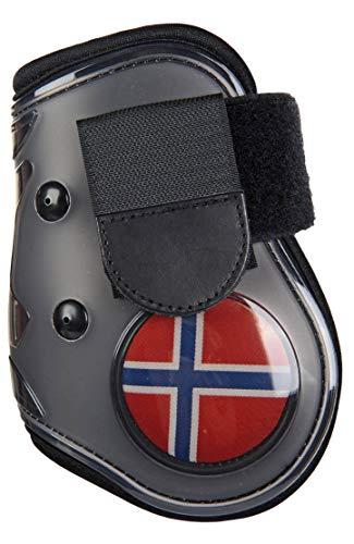 HKM flapdoppen vlag voor het achterbeen, Vollblut/Warmblut, Vlag Noorwegen - 7914
