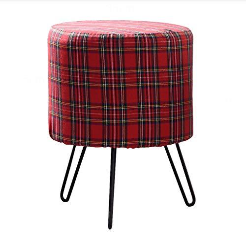 CHY Nordic Stools Ottoman Chair Kruk, volwassenen persoon, linnen ronde kaptafel kruk poef bank kruk