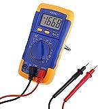 CENPEN 1 multímetro digital LCD moderno con batería, amómetro, voltímetro, ohmímetro, probador de corriente + 2 cables de prueba VEE13 P10