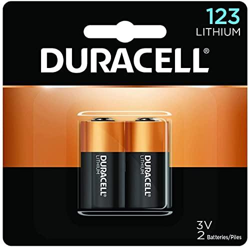 Duracell 123A Photo Lithium Battery 3volt - 2 Pack