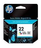 HP 22 C9352AE Cartuccia Originale per Stampanti a Getto di Inchiostro, Compatibile con Deskjet D1530, D1560, D2360, D2460, F2290, F335, F2180, F380, F390, F4180 e Officejet 4315, 4335, Tricomia