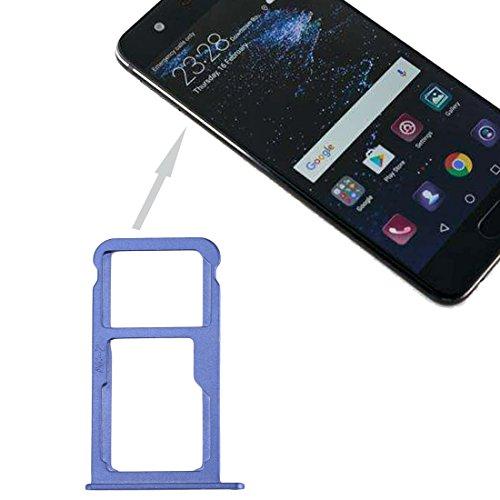 ZHANGLI - Bandeja para tarjetas SIM Huawei P10 y bandeja para tarjetas SIM/Micro SD (negro) (color: azul)