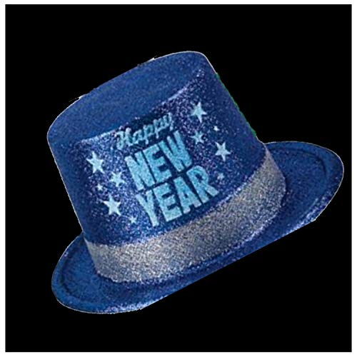 Affordable Lumistick 11 Happy New Year Glitter Top Hat (Blue, 12 Pack)