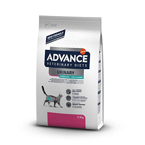 Advance Veterinary Diets Urinary Low Calorie - Pienso para Gatos, 7.5 kg