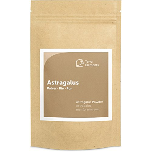 Terra Elements Bio Astragalus Pulver, 100 g I Astragalus membranaceus I Tragant I 100% rein I Vegan I Rohkost