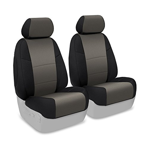 Coverking Custom Fit Seat Cover for Ford F-150/250/350 Truck - (Neosupreme, Charcoal/Black Side) :