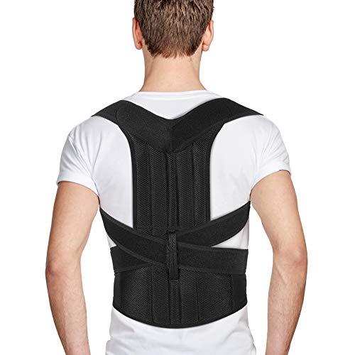 Férulas para Espalda para Hombres y Mujeres, Enderezador de Espalda con Correas Ajustables, Corrector Postura Espalda, Alivio del Dolor de Espalda, Hombro, Lumbar, Mejora de Malas Posturas (M:31-36'')