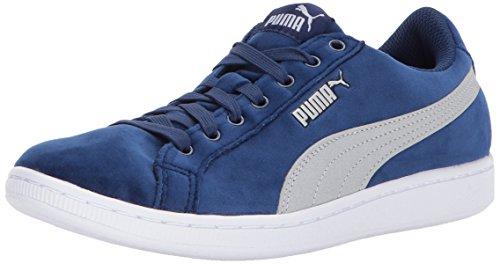 PUMA Vikky Velvet Rope BL - Sneaker da donna, blu (Blue Depths-puma Silver), 35.5 EU