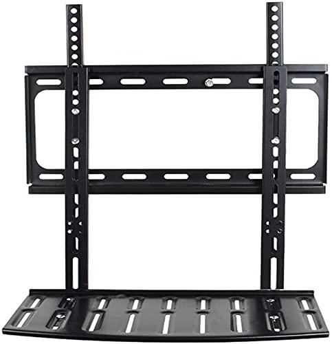 GWDFSU Soporte Universal para TV de sobremesa Soporte Giratorio de Acero Inoxidable para TV para televisores de 26-55 Pulgadas Gabinetes de TV Negros para Sala de Estar Máx.400X400mm