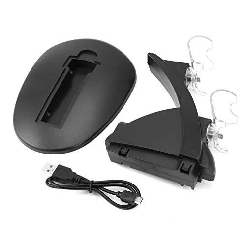 LED Dual USB Charger Docking Station voor Playstation van PS4 Gamepad Joystick Black