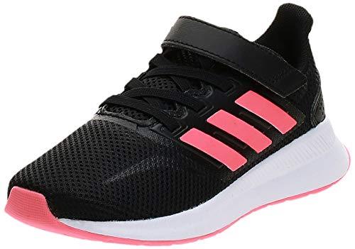 adidas RUNFALCON C, Scarpe da Corsa, Core Black/Signal Pink/Ftwr White, 34 EU